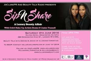 joclarepr hosts sip n share celebrity makeup artists